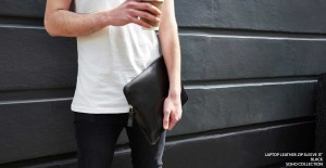 Laptop Leather Zip Sleeve 13 Black SOHO Collection